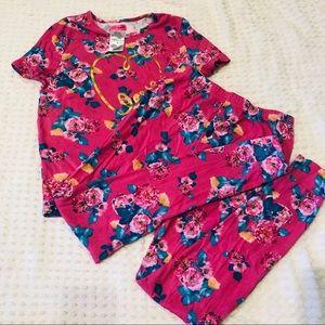 Betsy Johnson pajama set. Size 14
